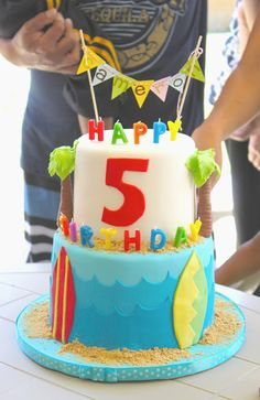 Surf and Sand Birthday Cake » The Little Epicurean