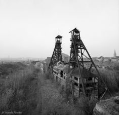 Beautiful industrial photograph by Harald Finster: coal mine 'Charbonnages du Bois du Cazier'