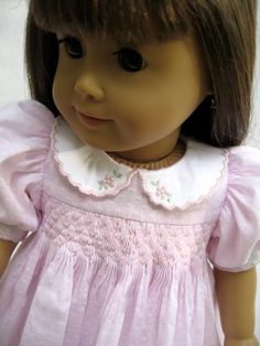 American Girl Doll Clothes Smocked Pink Dress by MyAngieGirl