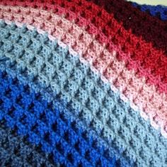 Waffle Stitch (Crochet Tutorial)  My mom taught me this stitch and I use it a lot.  Love it!