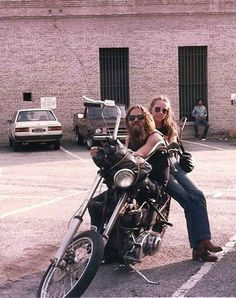 A biker and his old lady.  #Biker #Motorcycle #Perfect #Vintage