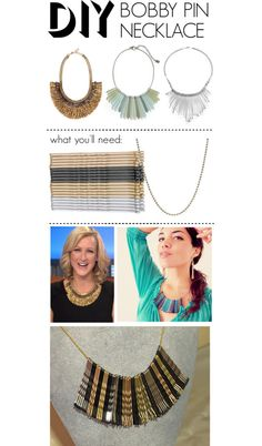 """""""DIY Bobby Pin Necklace"""" by polyvore-editorial on Polyvore"""