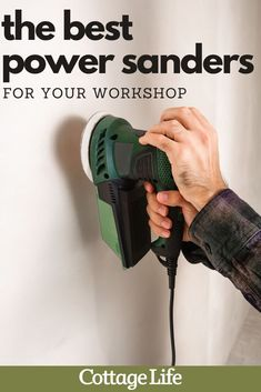 Looking to upgrade your workshop? You need one of the best power sanders, as picked by our experts, for your next DIY or woodworking project. #woodworking #DIY #toolbox #workshop #powersander #CottageLife Power Tool Organizer, Power Tool Storage, Wood Projects For Beginners, Easy Wood Projects, Beginner Woodworking Projects, Woodworking Plans, Diy Toolbox, Finishing Sander