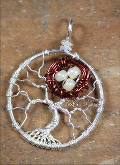 Little Brown Bird Nest in Tree of Life by PhoenixFireDesigns