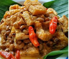 Sambel Goreng Krecek Indonesian Food, Indonesian Recipes, Diah Didi, Malaysian Food, Food Dishes, Food Food, Asian Recipes, Seafood, Food And Drink