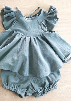 Beautiful Handmade Linen Blouse & Bloomers | MiyaAndMa on Etsy