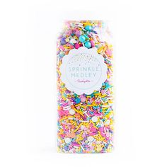 This refreshing mix is a premium, one-of-a-kind mix of some of the mostspringy and Eastery sprinkles in the universe: purple, lavender, pink, yellow,turquoise