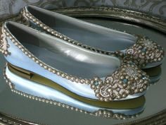 Royal Satin Bridal Ballet Flats Wedding Shoes - Any Size - Pick your own shoe color and crystal color