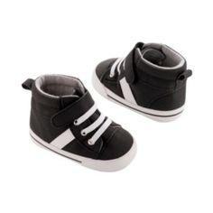 Carter's Stripe High-Top Crib Shoes - Newborn Boy