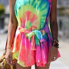 Tye die shirt dress