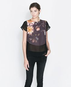 Imagen 1 de CAMISETA  SWEET FLOWERS de Zara