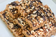 Peanut Butter Brown Rice Crunch Bars  - Gluten Free, Dairy Free, Corn Free YUM!
