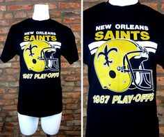 New Orleans Saints Shirt Vintage Football Tee Large 1987 NFL Playoffs All  Over Print Shirt Louisiana Sports Fan 80s Saints Football Shirt 58c755e27