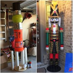 Easy To Make Outdoor Christmas Decorations On A Budget - Nutcracker Soldier - Page 2 of 31 - Easy Hairstyles Christmas Projects, Christmas Home, Christmas Lights, Christmas Crafts, Nutcracker Christmas Decorations, Large Outdoor Christmas Decorations, Nutcracker Crafts, Christmas Tables, Nordic Christmas