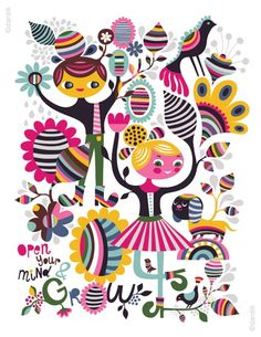 grow... limited edition giclee print of an original por helendardik, $25.00