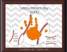 Baseball Handprint Personalized by CreationsbyTamiLynn on Etsy
