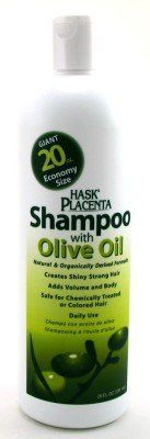 Hask Placenta Shampoo with Olive Oil 20oz by Hask. $14.59. Adds Volume and Body an Shine to your Hair. Giant 20 oz Size. Made from Natural and Organically Derived Ingredients. Gentle enough for daily use. Safe for Chemically Treated or Colored Hair. Hask Placenta Shampoo With Olive Oil is specially formulated to make your hair shinier and stronger. The natural and organically derived formula helps restore, revitalize, and rejuvenate your hair, giving it a silky smooth finish. Hea...