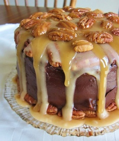 Maple Turtle Cake (toasted pecans, coconut milk, wheat pastry flour, maple sugar and agave nectar - no eggs).
