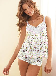 Ready, set, sleep with the Signature Cotton Classic Tank & Boxer Pajama from Victoria's Secret. Shop our sleepwear collections for PJ sets in the dreamiest colors and perfect prints. Cute Sleepwear, Sleepwear Women, Pajamas Women, Lingerie Sleepwear, Pijamas Victoria Secrets, Ropa Interior Babydoll, Wedding Night Lingerie, Night Dress For Women, Lingerie Outfits