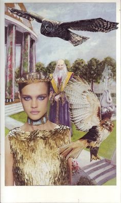 Soul card: Magician - collage from magazines - by Maz