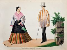 Fashion plate, 1857, Philippines. Philippines Outfit, Miss Philippines, Philippines Fashion, Philippines Culture, Philippines People, Filipino Art, Filipino Culture, Manila, Barong Tagalog