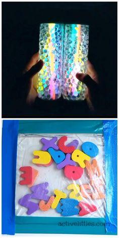 Sensory Activities, Craft Activities For Kids, Preschool Crafts, Diy Sensory Toys For Babies, Baby Sensory Bottles, Sensory Bottles For Toddlers, Diy Crafts Hacks, Diy Crafts Videos, Easy Crafts