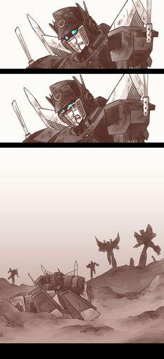 Megatron and Optimus Prime by eyepod-blob