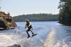 Caroline van Stralen wakeboarding Ronix