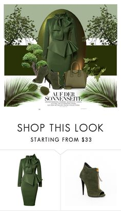 """Green Color ♡"" by dns328 ❤ liked on Polyvore featuring Givenchy"