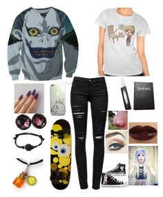 """✖Halloween means death✖"" by evie-clifford ❤ liked on Polyvore featuring Frame Denim"