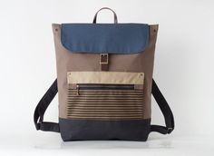 Unisex, choco brown canvas backpack / Laptop bag / diaper bag / Front zipper pocket, Design by BagyBags Diaper Bag Backpack, Canvas Backpack, Laptop Backpack, Brown Canvas, Blue Canvas, Stylish Backpacks, School Bags, Travel Bag, Shopping Bag