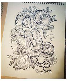 Lion Tattoo Arm, Leg Tattoos, Body Art Tattoos, Sleeve Tattoos, Animal Thigh Tattoo, Snake Sketch, Snake Drawing, Snake Art, Python Drawing