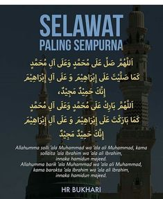 Com: Selawat paling sempurna Quran Quotes Inspirational, Islamic Love Quotes, Muslim Quotes, Hijrah Islam, Doa Islam, Reminder Quotes, Self Reminder, Muslim Religion, Wattpad Quotes