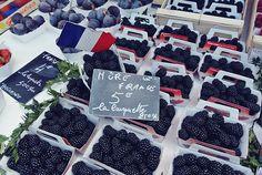 Fresh blackberries in Nice
