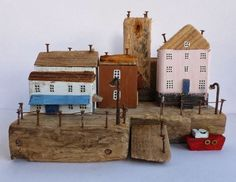 Kirsty Elson Original unique sculpture from Cornwall, using driftwood, rusty nails and any other j...
