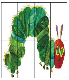 i like the matching food puzzle and the caterpillar puzzle for older kids Very Hungry Caterpillar Printables, Hungry Caterpillar Party, Eric Carle, Spring Activities, Preschool Activities, Bug Crafts, Crafts For Kids, Chenille Affamée, Farm Birthday