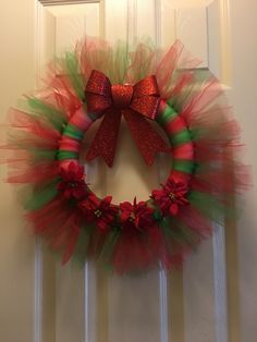 "Here is another Christmas Wreath that I just got thru making.. For  Christmas of ""2018"" 2f8324cdfbf6"