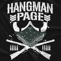 New Japan Pro Wrestling Bullet Club Hangman Page T-shirt Bullet Club Logo, Kenny Omega, Japan Pro Wrestling, Wrestling Stars, Lucha Underground, Wwe Wallpapers, Cricut Explore Air, Seth Rollins, Vinyl Designs