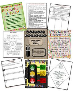 Runde's Room: Writing Workshop - Persuasive Writing - includes link to a free transition words poster