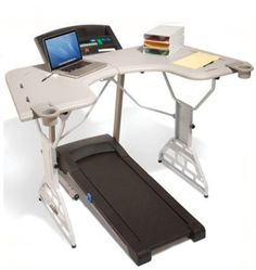 ...Treadmill Desk how cool would this be to be walking and surfing the net at the same time!