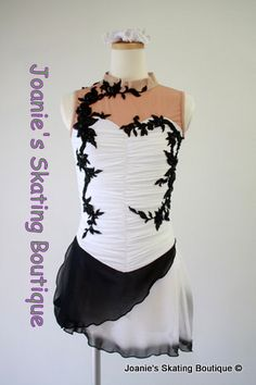 a beautiful black and white ice skating dress.