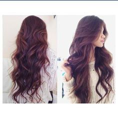 Wavy hairstyle for long hair
