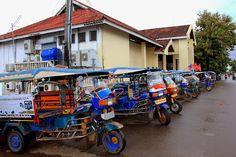 Transporte en Savannakhet: tuk-tuk http://www.vietnamitasenmadrid.com/laos/savannakhet.html