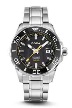 Zegarek męski Doxa Into The Ocean - Minuta. Sapphire Bracelet, Casio Watch, Luxury Watches, Cool Watches, Omega Watch, Ocean, Accessories, Diving Watch, Group