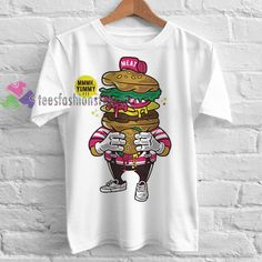 Burger Lover Tshirt gift adult unisex custom clothing Size S-3XL //Price: $11.99  //