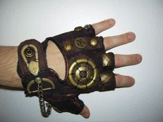 MEN Steampunk Glove by moonhoar - For Steam Punk Fans!