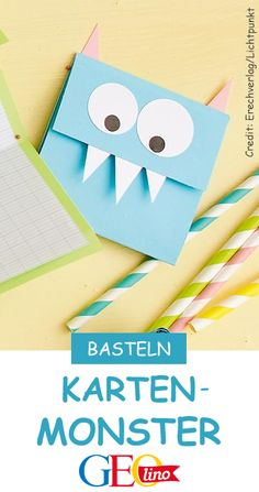 Monster-Karten basteln We make funny monster cards with you! Best Halloween Movies, Halloween Kids, Christmas Poster, Christmas Art, 9th Birthday, Birthday Cards, Halloween Baskets, Funny Monsters, Monster Cards