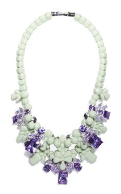 Mint and violet necklace