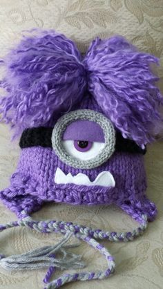 Purple minion hat by evie rose handmade