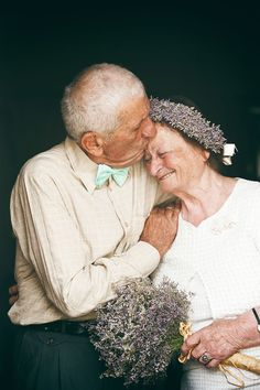 An Elderly Couple Getting Married After Spending 55 Years Together